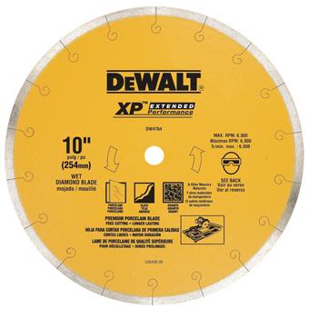 6073 DeWALT DW4764 10in XP Porcelain Diamond Blade