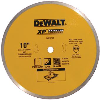 6038 DeWALT DW4762 10in PORCELAIN BLADE