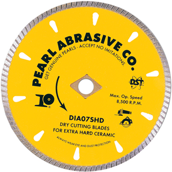 6085 Pearl SHD Dry Cutting Porcelain & Granite Blade