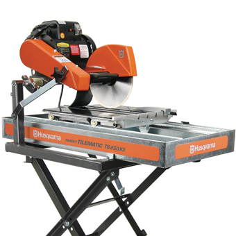 9557 Target By Husqvarna Tilematic TS250 X3SS W/ Stainless Steel Pan Tile Saw