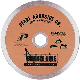 6120 Pearl Bronze Line Continuous Rim Dry Diamond Blade