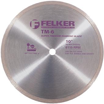 6040 Felker TM-6 Wet Diamond Blade