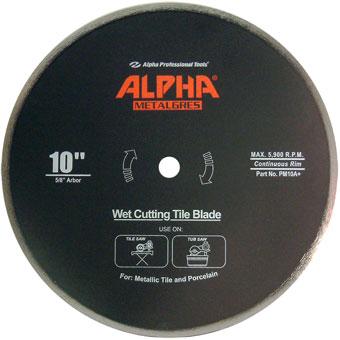 9618 PM10A 10in Alpha Metalgres Diamond Blade