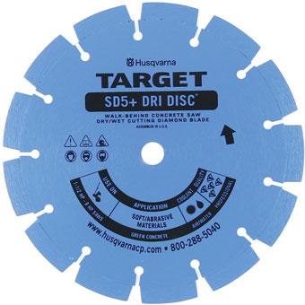 7767 Target by Husqvarna SD5+ Green Concrete Diamond Blade