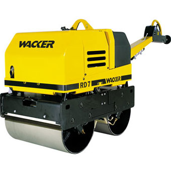 9343 Wacker RD 7H-ES Double Drum Vibratory Roller