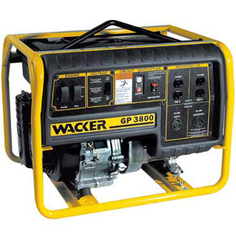 9353 Wacker GP 3800A Portable Generator