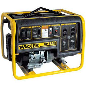 9353 Wacker GP 3800A Portable Generator