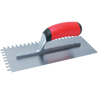 9388 Marshalltown QLT Soft Grip 11in X 4-1/2in Notched Trowels