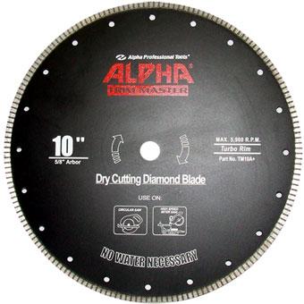 9393 Alpha 10 in Trim Master Dry Cutting Saw Blade