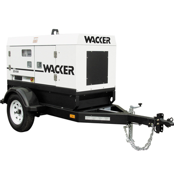 9439 Wacker G 25 Mobile Generator 20kW