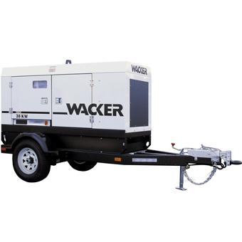 9440 Wacker G 50, G 70, G 85 Mobile Generator John Deere