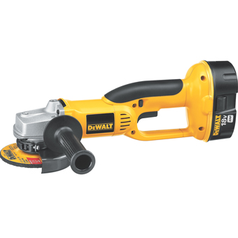 9454 DeWalt DC410KA Heavy-Duty 18V Cordless 4-1/2in Angle Grinder