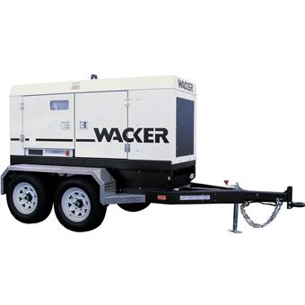 9458 Wacker G 120 & G 160 Mobile Generator John Deere