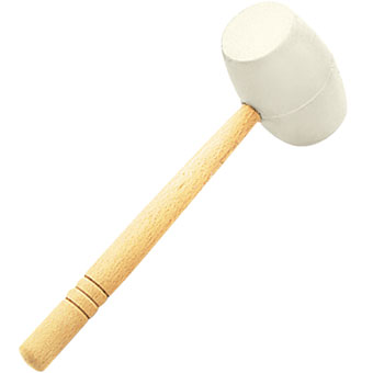 9527 Rubi White Rubber Mallet For Stone & Tile Laying