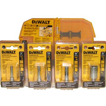 9559 Dewalt 4pcs Wet Porcelain drill bit, 1/4in, 5/16in, 3/8in, 3/4in