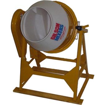 7927 Cleform Gilson 300UT-PL Poly Drum Concrete Mixer 59016A
