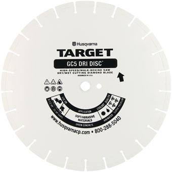 9581 Target by Husqvarna 14in. GC and DG Dri Disc Diamond Blades