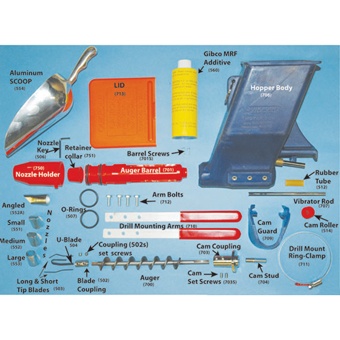 9679 Quikpoint Mortar Gun Auger Replacement Kit