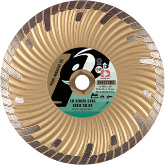 6100 Pearl SD Gold Dry Cutting Turbo Diamond Blade