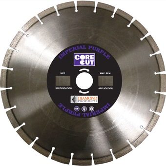 8110 Core Cut Imperial Purple Dry Diamond Blades