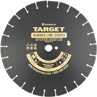7160 Target by Husqvarna Banner Line Black 500BR Asphalt Diamond Blade
