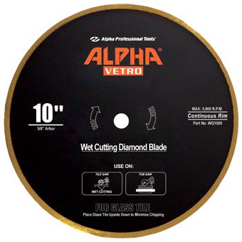 6505 Alpha Vetro Glass Diamond Blade