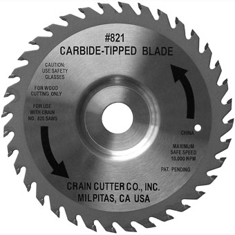 6759 6-1/2in Crain 821 Carbide Tipped Repl Blade