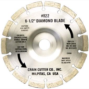 822 6-1/2in Crain Segmented Diamond Blade