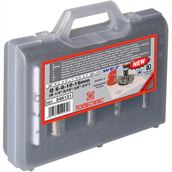 349131 Tomecanic 4pcs Wet Porcelain Drill Bits, 1/4in, 5/16in, 3/8in, 3/4in
