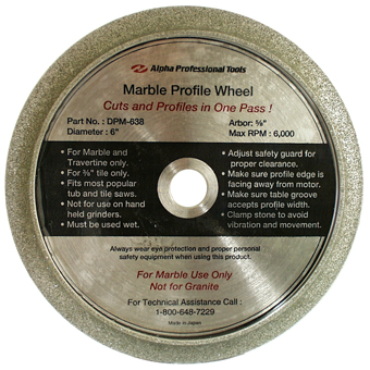 5842 Alpha 6in Marble Profile Wheel