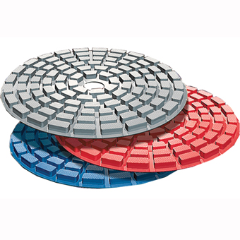 6210 Kit Shine-X Triple Thick 4in Diamond Pads