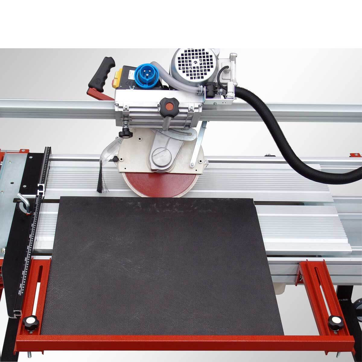Raimondi Rail saw cutting tile with extension side square