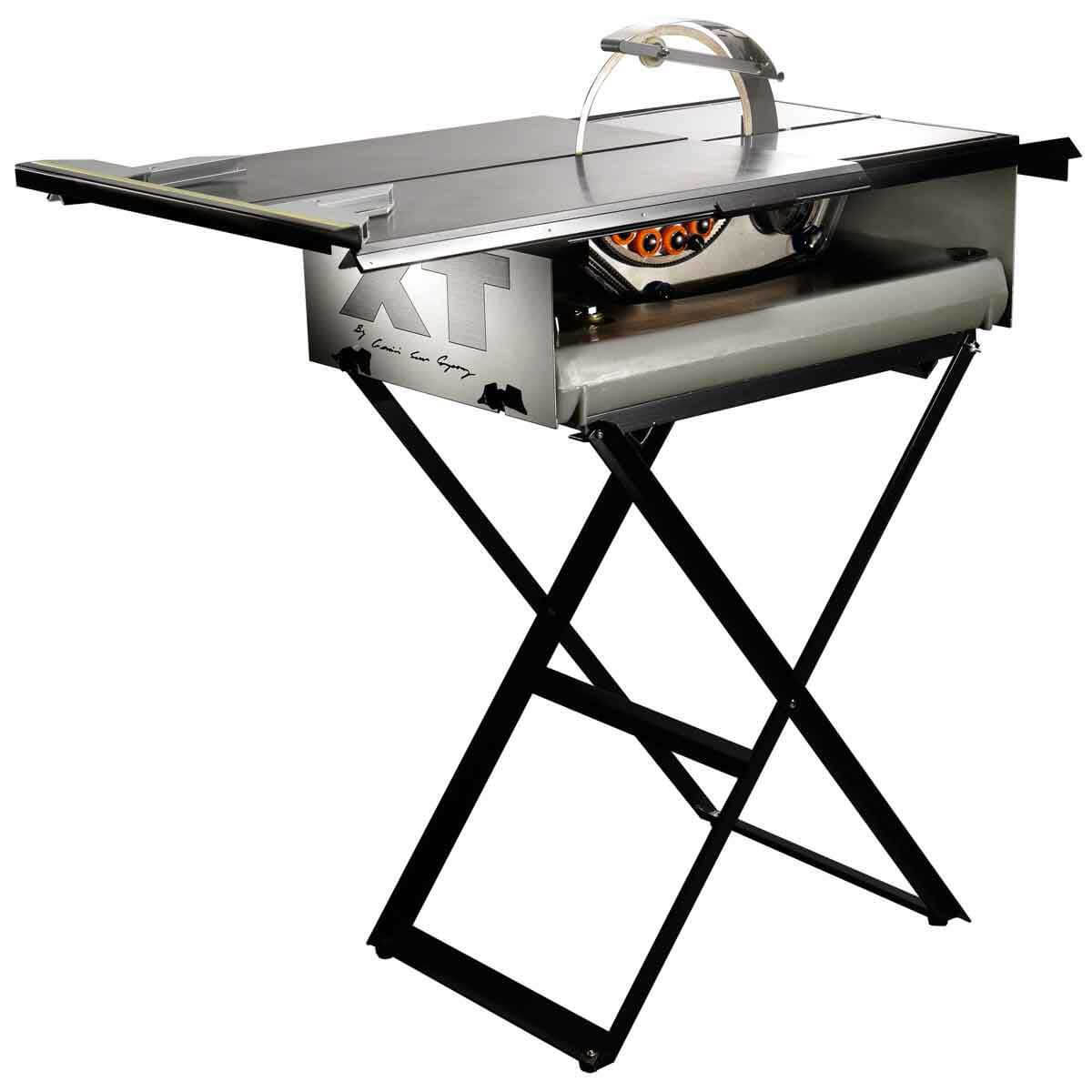 Gemini Revolution XT Tile Saw Kit with slide tray and stand