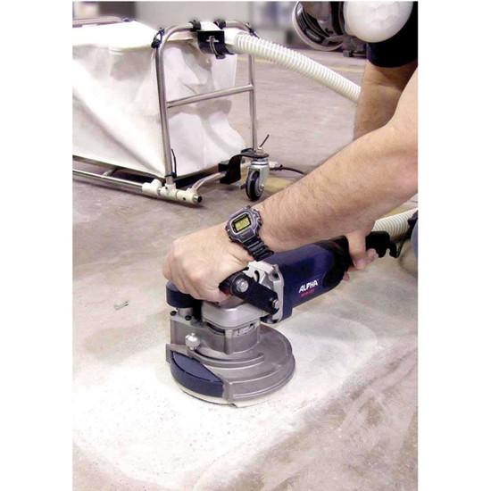 Alpha Dustless Eco grinder action