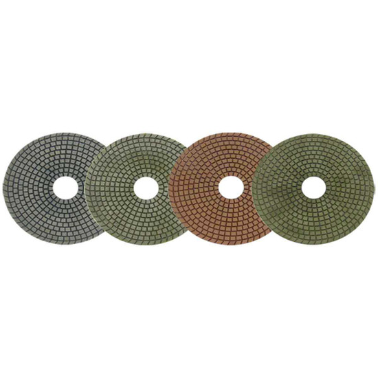 Steps 1-4 Polishing Pads for Alpha Tools