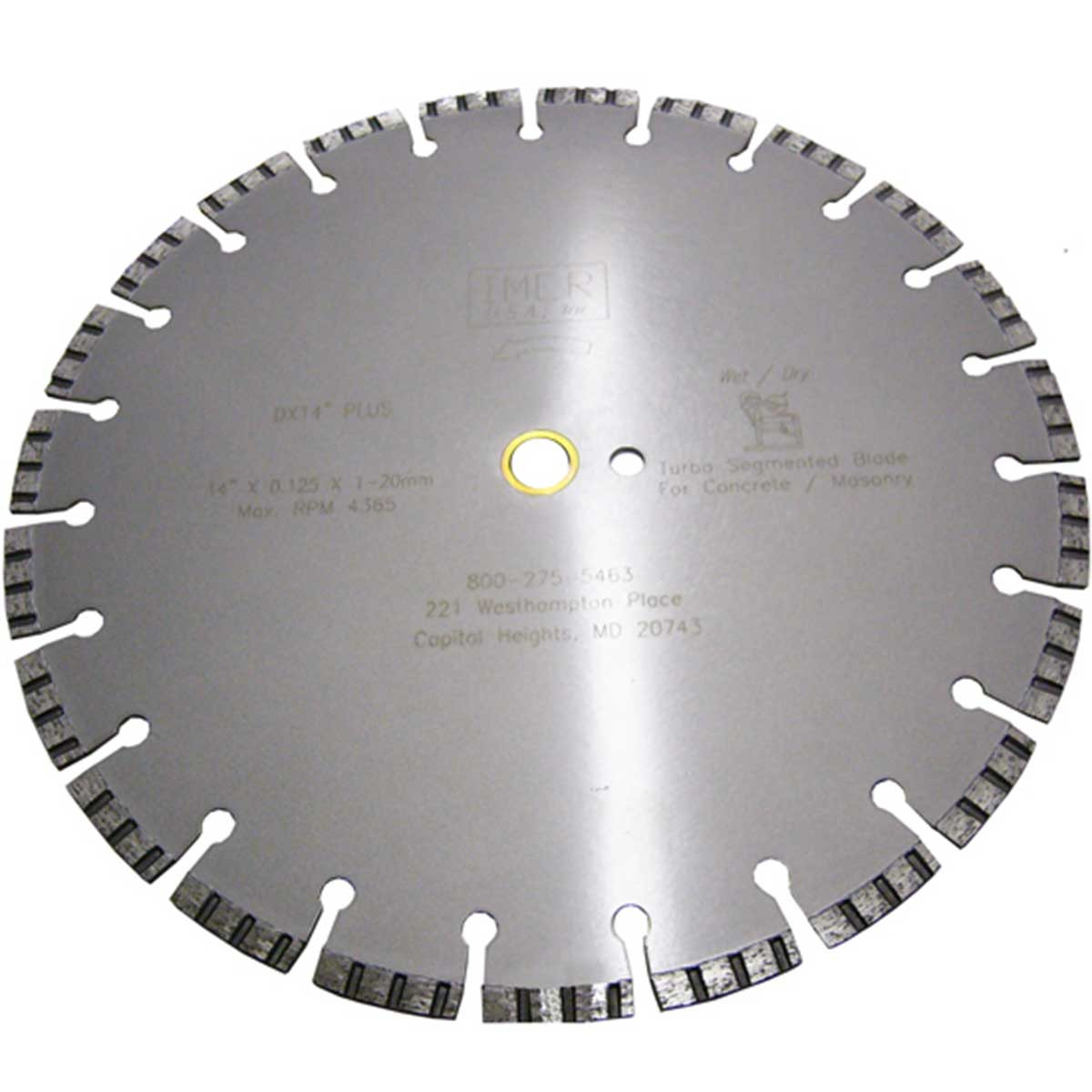 Imer DX9 14 inch Diamond Blade Turbo Segmented