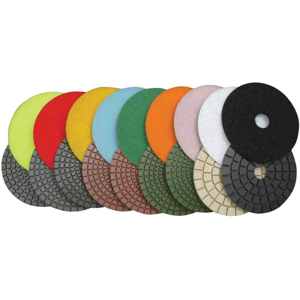 Diteq Premium Wet Polishing Pads 9 Piece Kit