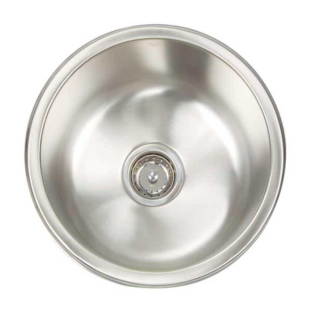 ao16 d8 d artisan sinks 16 gauge     artisan sinks premium series 16 gauge single bowl round   rh   contractorsdirect com
