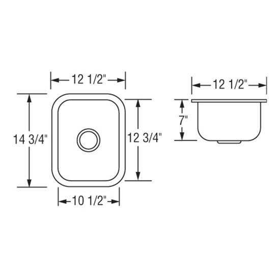 Ar1214 D7 Sink Dimensions