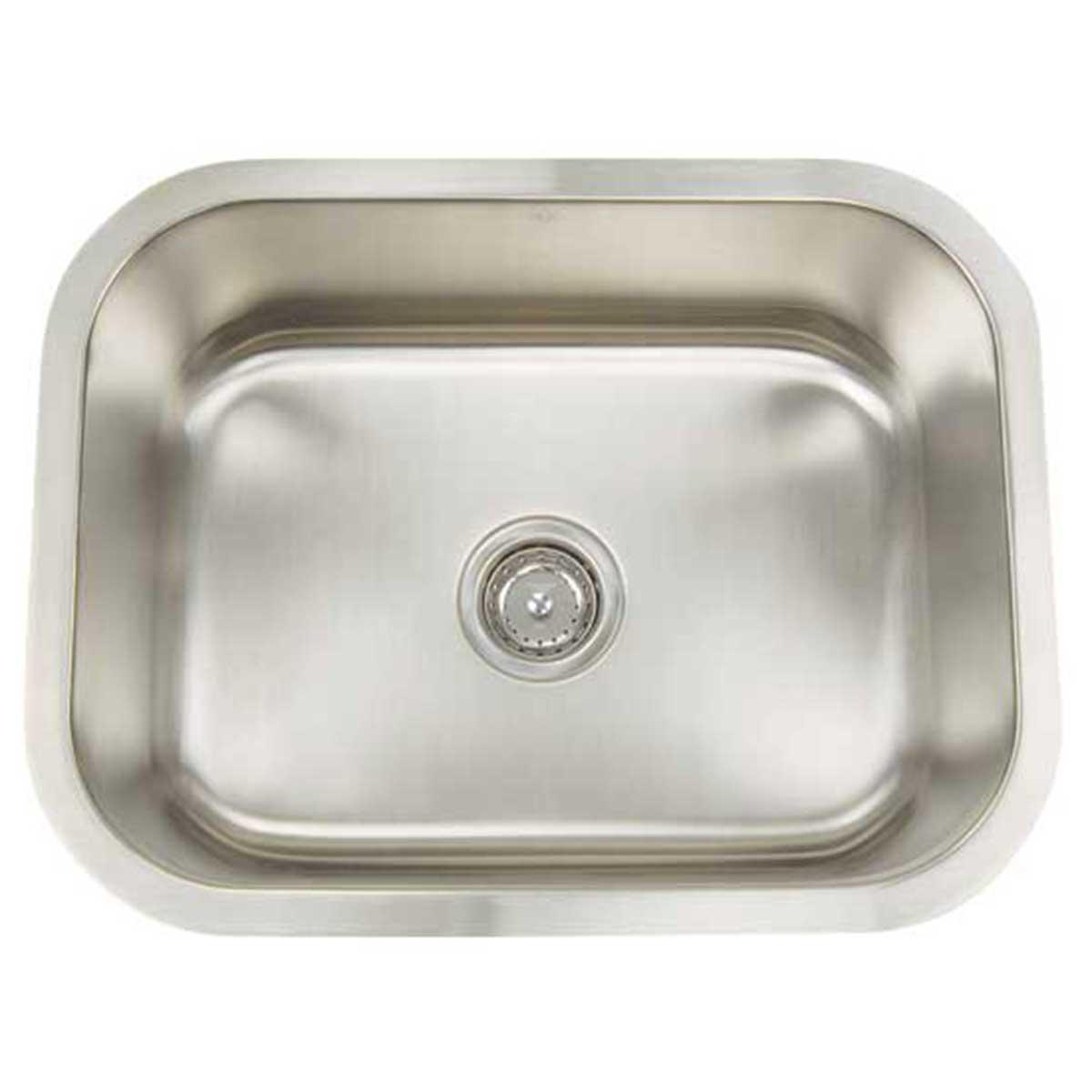artisan ar2318 d9 single bowl     artisan sinks ar2318 d9 16 gauge  contractors direct   rh   contractorsdirect com