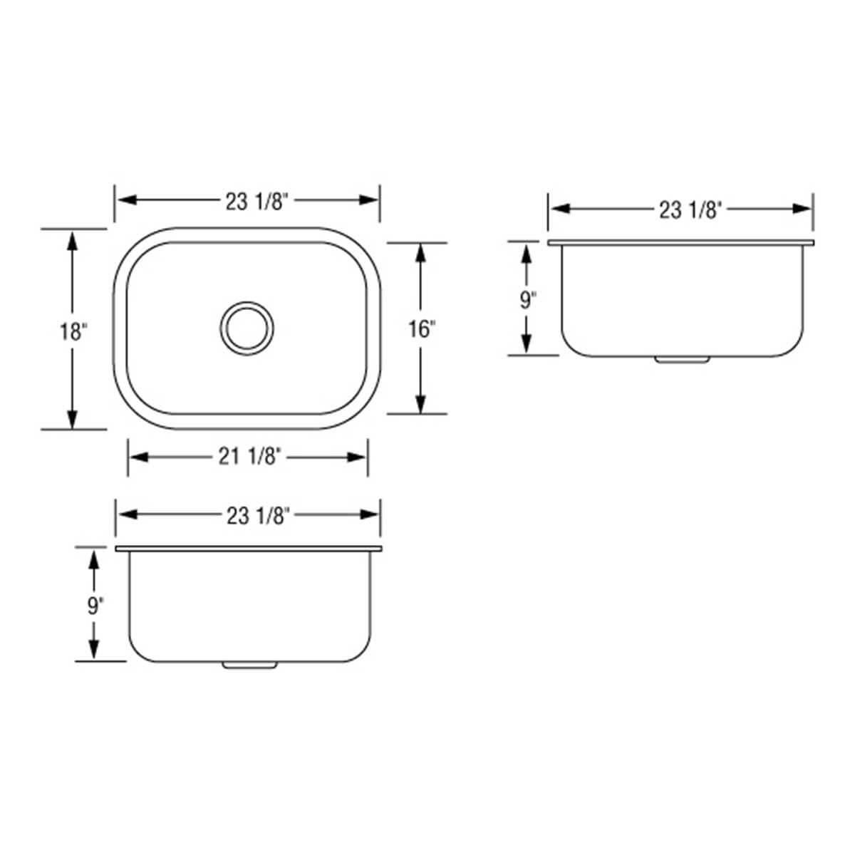 Artisan AR2318-D9 Single bowl draw
