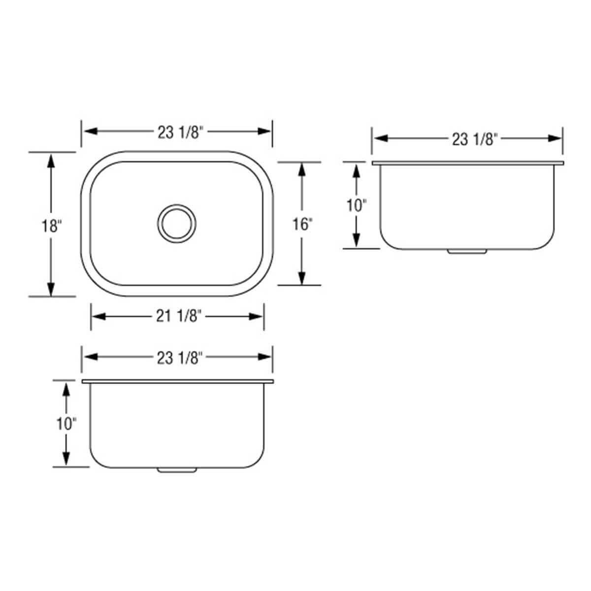 Artisan Single bowl AR2318-D10 draw