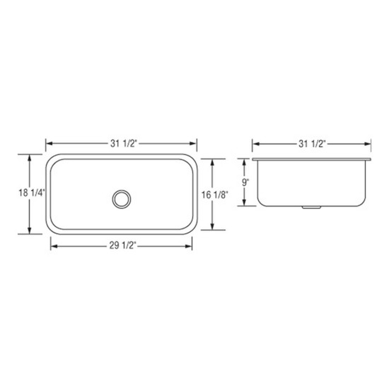 Artisan AR3118D9-D Sink Dimensions