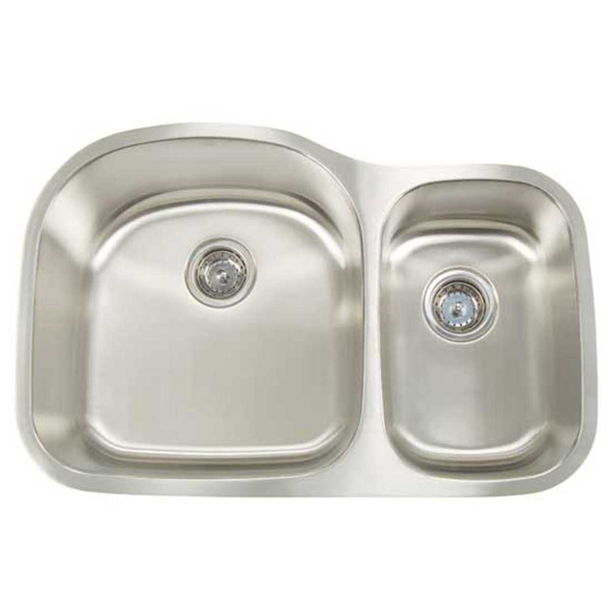artisan reversed double bowl sink  artisan 16 gauge double bowl sink     artisan 16 gauge reversed double bowl  contractors direct   rh   contractorsdirect com