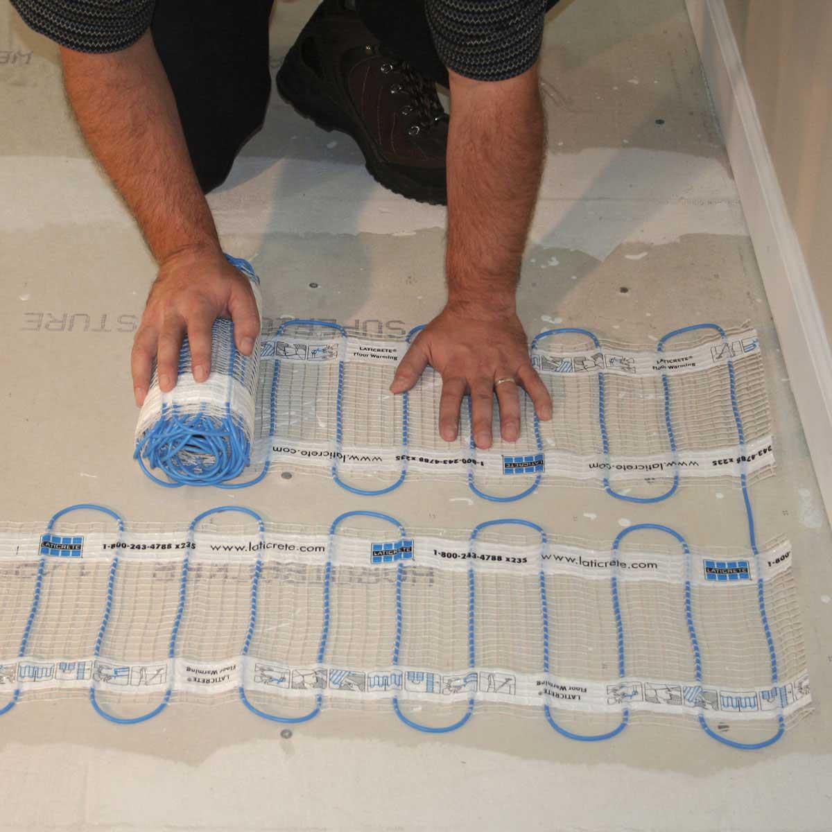 Laticrete Floor Heat Kit install