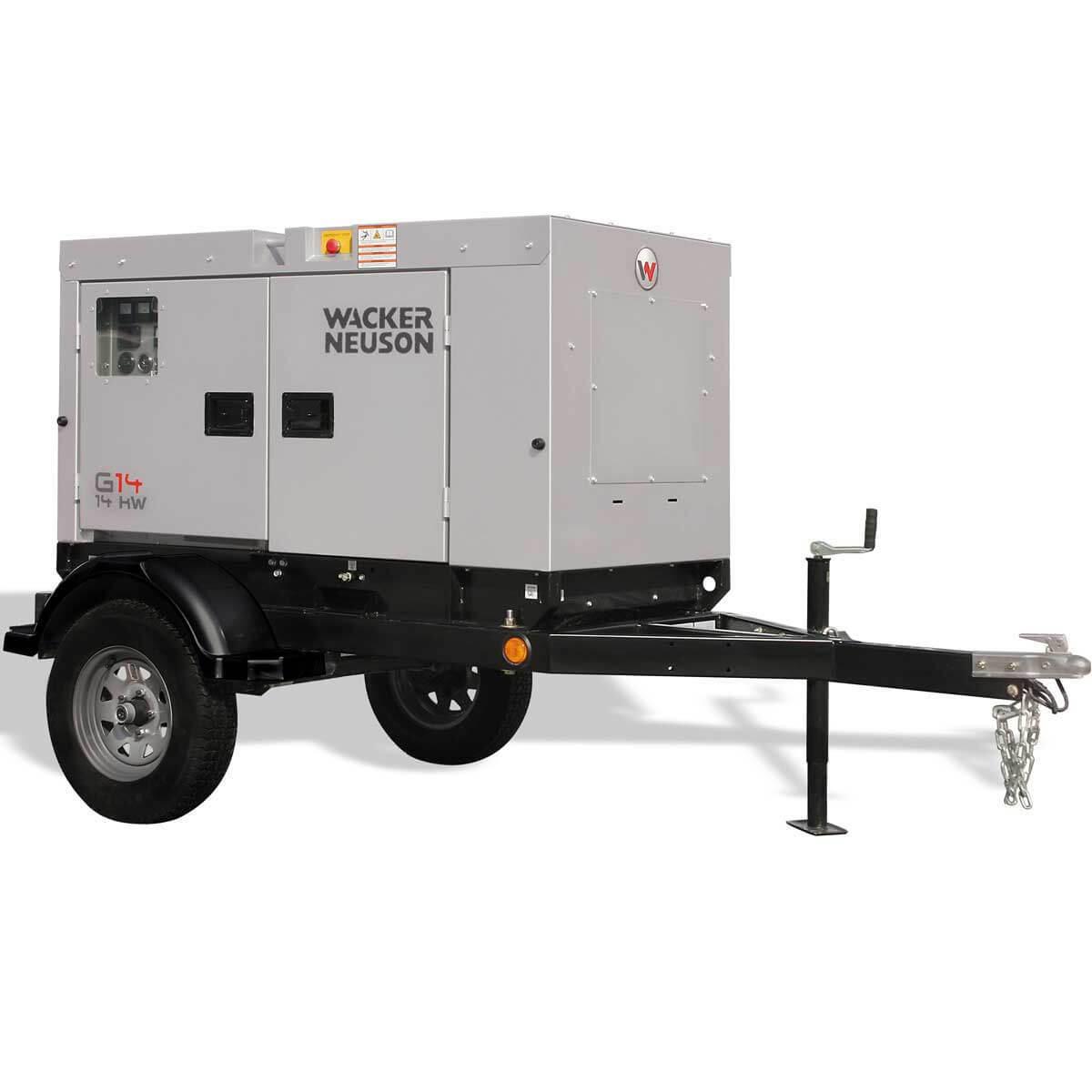 Wacker G14 Generator 14kW w Skid Base