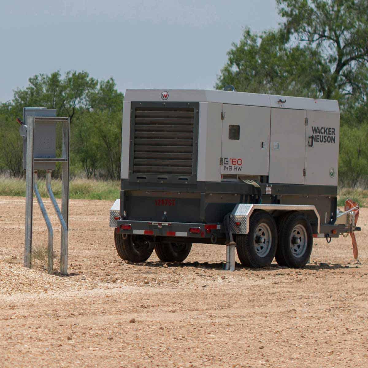 Wacker Neuson G180 mobile generator