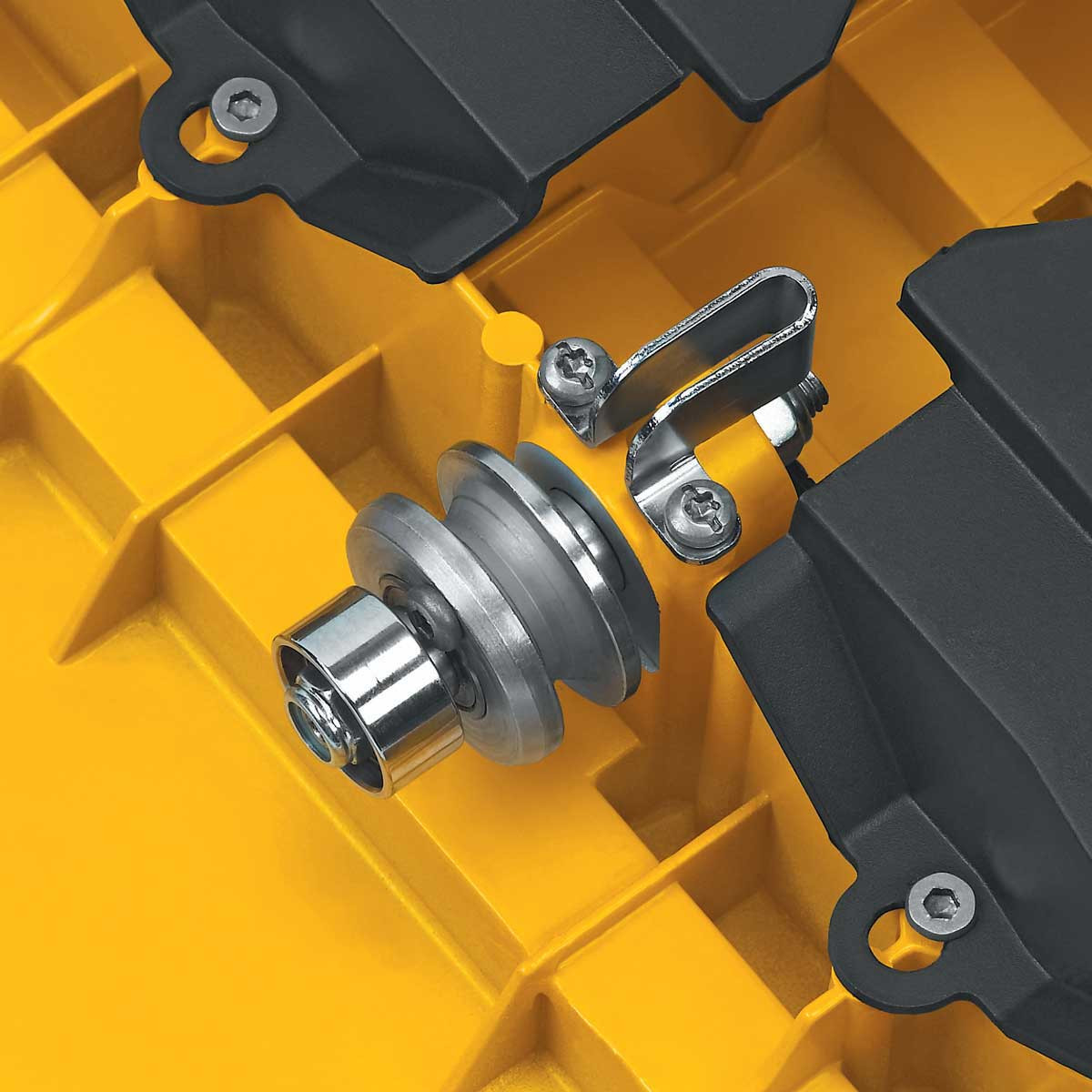 Roller with bearing for Dewalt D24000 carriage tray