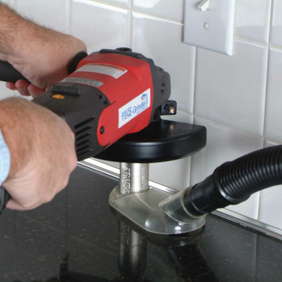 Diteq Dust Shroud Cutting Granite