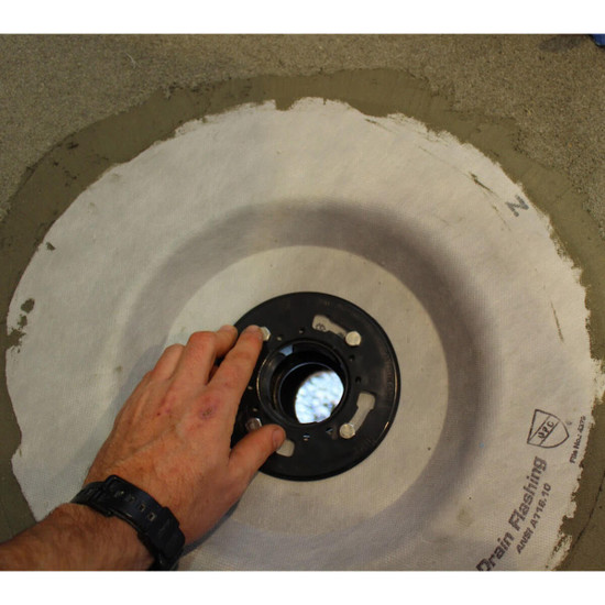 NobleFlex Drain Flashing Installation